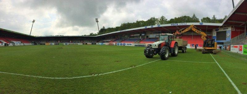 Baubeginn beim FC Heidenheim
